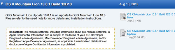 Beta 1 Mountain Lion 10.8.1