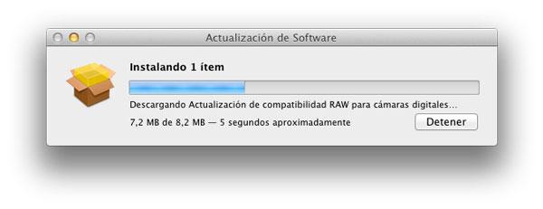 Actualización RAW para cámaras digitales de Apple