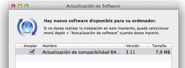Actualizaciones Mac OS X