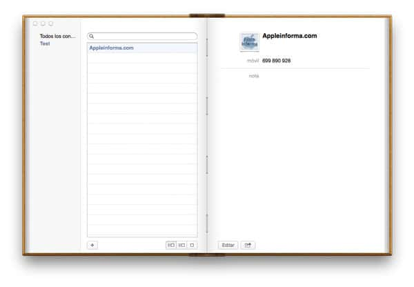 Agenda Mac OS X