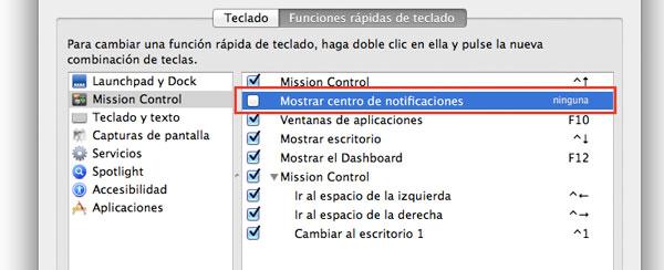 Atajos de teclado OS X