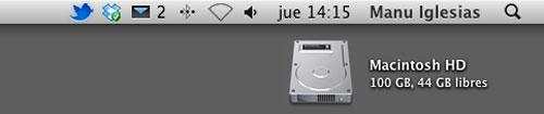 Iconos de la barra de menús de OS X