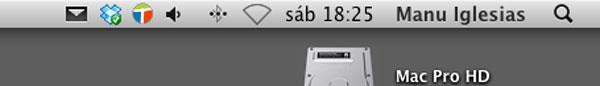 Barra de menús OS X