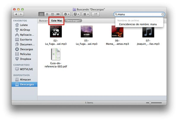 Buscar en Mac