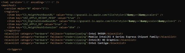 Código Mapas en OS X