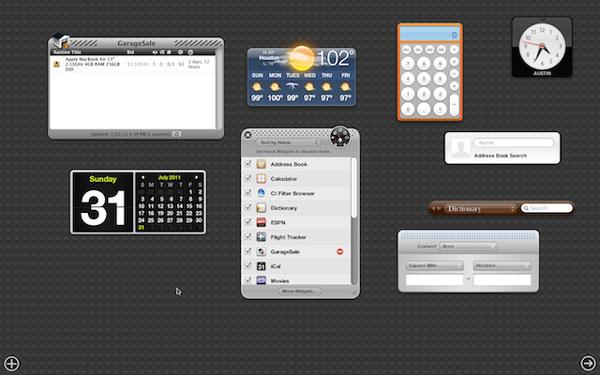 Darshboard OS X