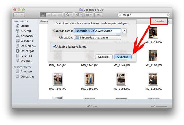 Guardar búsqueda en OS X