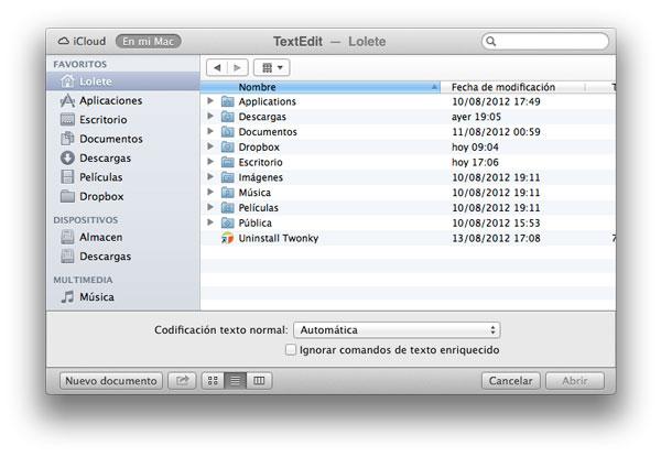 Guardar en Mac