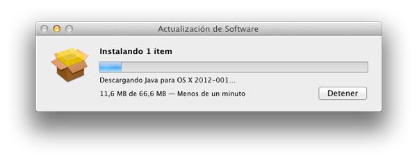 Actualización Java OS X
