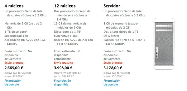 Mac Pro No Disponible