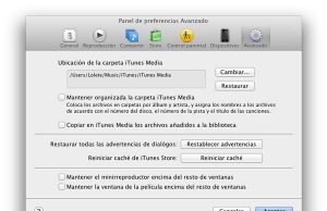 Prefencias iTunes