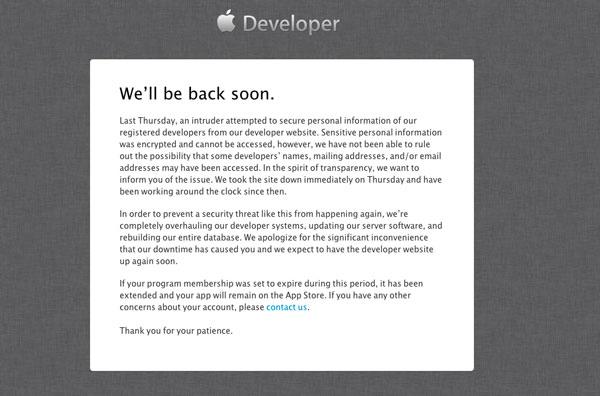 developer-center-comunicado-ataque