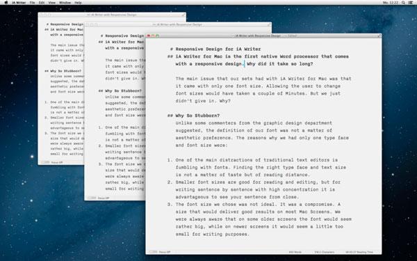 ia writer mac Aplicaciones imprescindibles para nuevos usuarios de Mac