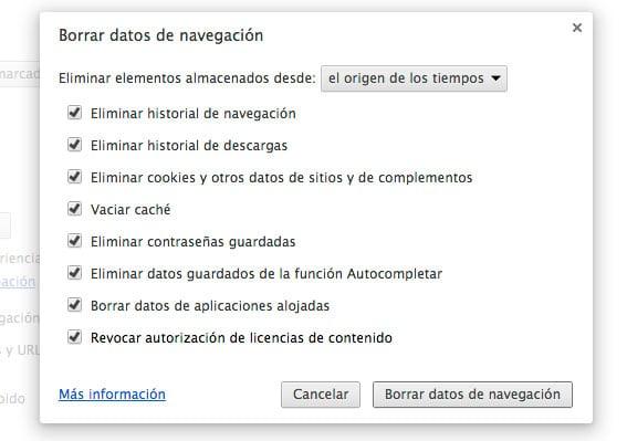 Borrar memoria caché en los navegadores de Mac