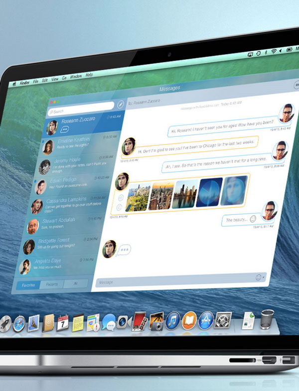concepto mensajes mavericks os x Este concepto da algunas buenas ideas para una, necesaria, renovación de la aplicación Mensajes de OS X