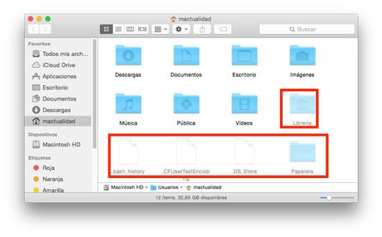 Mostrar archivos ocultos en Mac