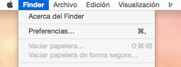 Preferencias de Finder