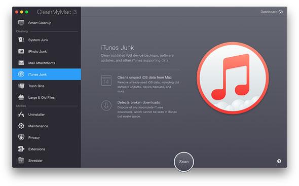 CleanMyMac 3 limpieza iTunes