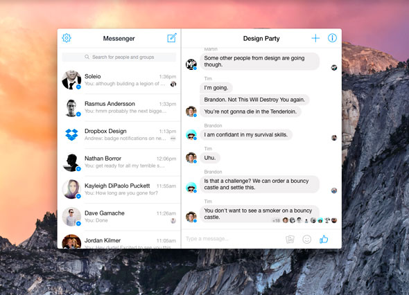 Facebook Messenger para Mac