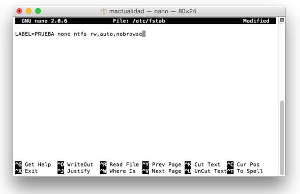 Escribir en discos NTFS desde Mac