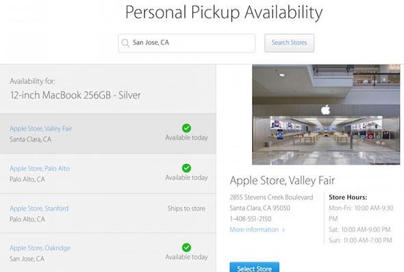 Recogida en tienda de los nuevos MacBook de 12 pulgadas