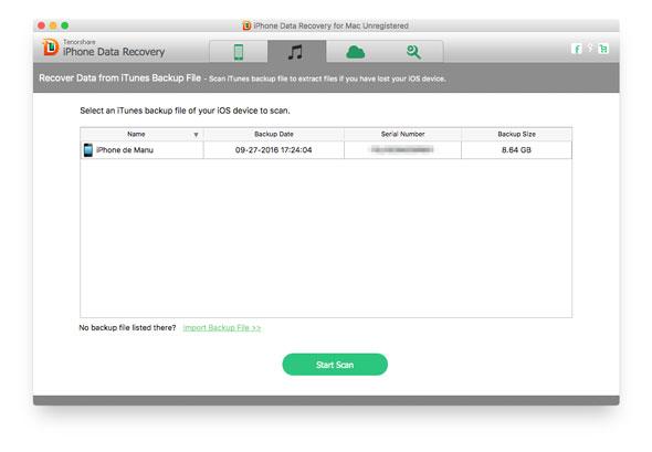 Acceder a archivos de un backup de iTunes o iCloud