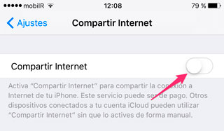 Activar compartir Internet