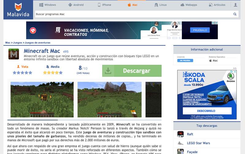 Ficha de programa en la web de Malavida